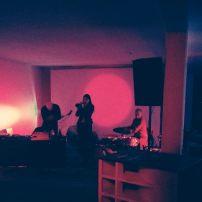 Trio with Carina Khorkhordina and Adrian David Krok at modular+space, Berlin, 14.01.18. Photo by Kamil Korolczuk